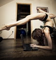 A dancer's life - checking email
